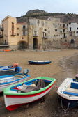 Fishing boats in Cefalu — Stock Photo