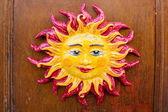 Sun on the Door — Stock Photo