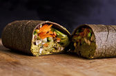 Sliced raw food wrap — Stock Photo