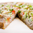 Stock Photo: Raw food quiche