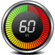 Digital stop watch 60s — Stock Vector