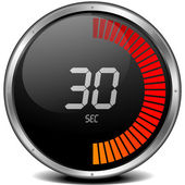 Cronómetro digital 30s — Vector de stock