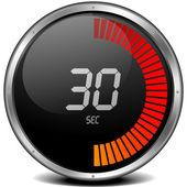 Digitale stopwatch 30s — Stockvector