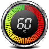 цифровой секундомер 60-х — Cтоковый вектор