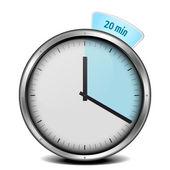 20min timer — Stock Vector