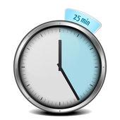25min zegar — Wektor stockowy