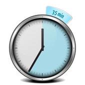 Timer 35min — Vettoriale Stock