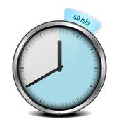 Timer di 40min — Vettoriale Stock