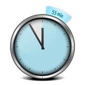 55min timer — Stock Vector