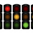 Traffic lights — Stock Vector #16827435