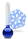Thermometer with snowflake — Stock Vector