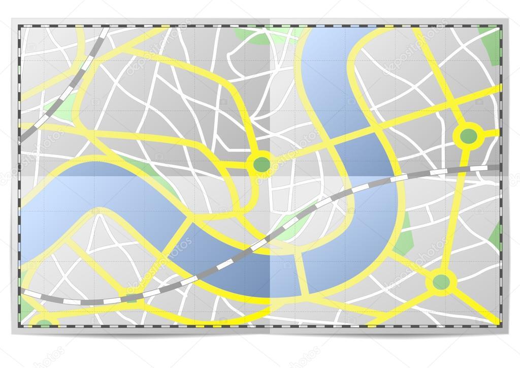 城市地图 — 图库矢量图像08