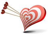 Valentine heart target — Stock Vector