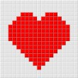 Stock Vector: Pixel heart