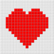Pixel heart - Stock Vector