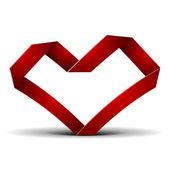 Corazón de origami — Vector de stock