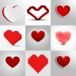 Hearts — Vector de stock #19743251
