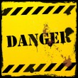 Stock Vector: Danger background