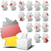 Election set germany — Stock Vector