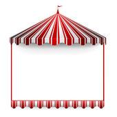 Carnivals tent frame — Stock Vector