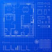 Blueprint elements — Stock Vector