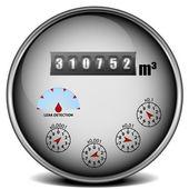 Water meter — Stock Vector