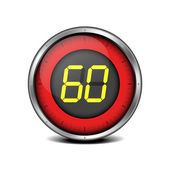 Timer digital 60 — Vector de stock