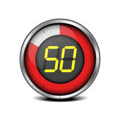 Timer digital 50 — Stock Vector