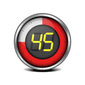 Timer digital 45 — Stockvector
