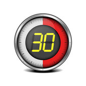 Timer digital 30 — Vector de stock