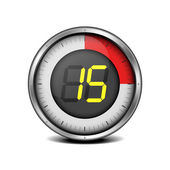 Timer digital 15 — Vector de stock