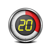 Timer digital 20 — Vector de stock