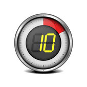 Timer digital 10 — Vector de stock