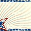 Stars and Stripes grunge background — Stock Vector