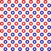Patriotic star dots pattern background — Stock Vector