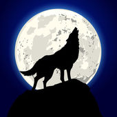 Howling wolf — Stock Vector