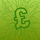 Circuit board pound — Stock Vector