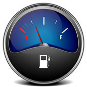 Gas gauge — Stock Vector