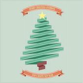 Ribbon christmas tree — Stock Vector