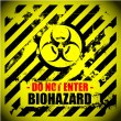 Biohazard warning — Stock Vector