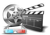 Film 3D — Stock Vector