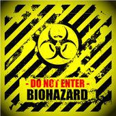 Biyolojik tehlike uyarısı — Stok Vektör