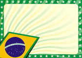 Brazilian flag background — Vettoriale Stock