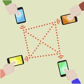 мобильный обмен данными — Cтоковый вектор