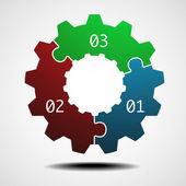 Cogwheel infographic template — Stock Vector