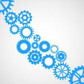 Blue cogwheels — Stock Vector