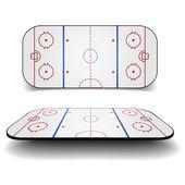 Icehockey court — Stockvektor