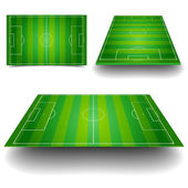 Soccer field set — Stock Vector
