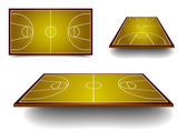 Set basketball court — Stock Vector