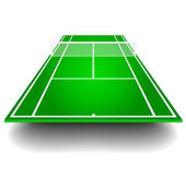Tennis court with perspective — Stock Vector
